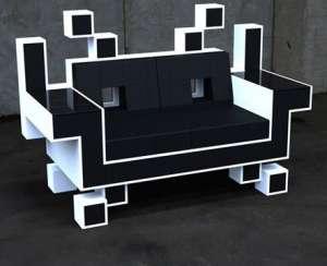 极具创意沙发空间入侵者喷绘机